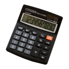 Калькулятор Citizen SDC-810BN черный 10-разр. %