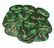 Медиатор Fender 351 Green Moto, Medium 12pcs